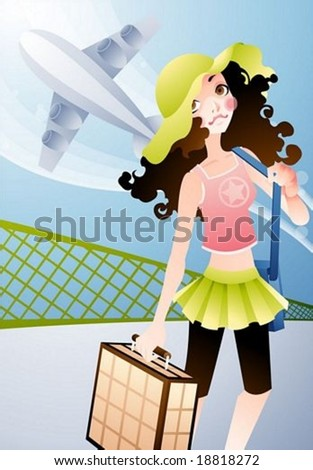 Happy Travel - vector illustration - stock vector