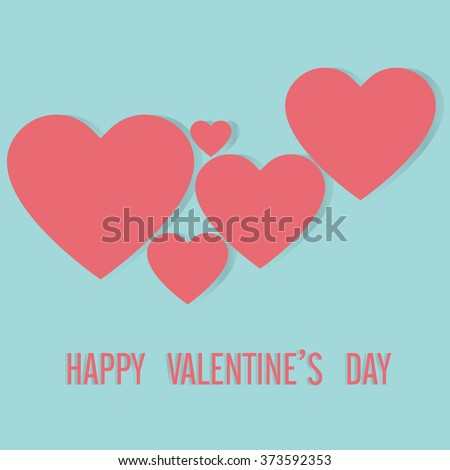 Happy Valentine's card, Love heart, A collection of love heart vector. - stock vector