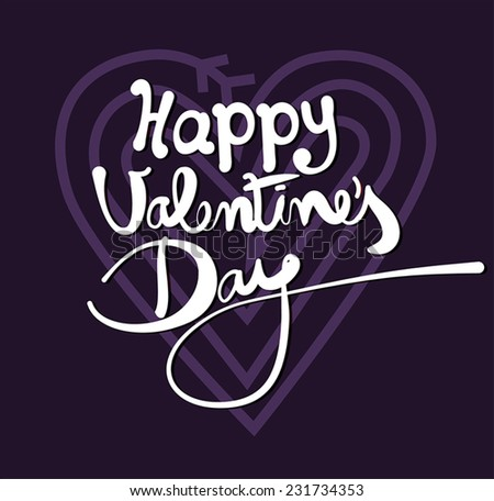 Happy Valentine's Day - stock vector