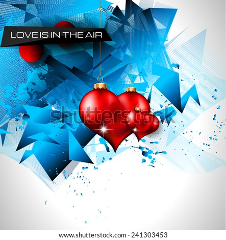 Happy Valentine's Day background with lovely Hearts. Ideal for brochure, invitation cards, dinnev menu covers, advertisment and poster. - stock vector