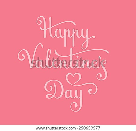 Happy Valentine's Day Card. Vector illustration - stock vector