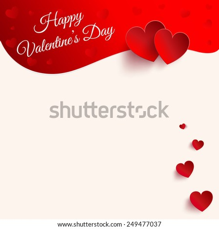 Happy Valentine's Day -  lettering Greeting Card - stock vector