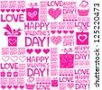 Happy valentine's day. Valentine seamless pattern. Vector Illustration - stock vector