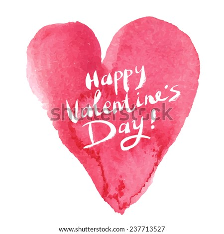 Happy Valentine's Day. Vector illustration - stock vector