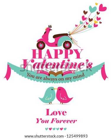 Happy Valentine - Sweet day - stock vector