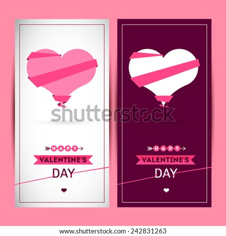 Happy valentines day and weeding cards. You can use for invitations or cards. Heart icons - vector illustration eps10 - stock vector