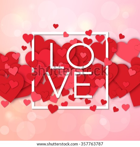 Happy valentines day and weeding design elements. Vector illustration invitation, menu, flyer, template. Pink Background With Ornaments, Hearts. Doodles and curls. Be my Valentine. Love. - stock vector
