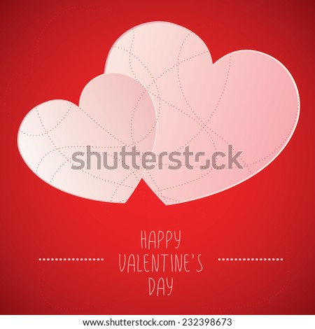 Happy Valentines Day card.Eps10  concept vector illustration   - stock vector