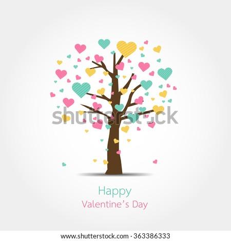 Happy valentines day design - stock vector