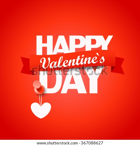Happy valentines day greeting card. Vector illustration - stock vector