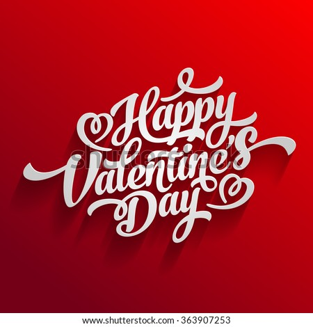 Happy Valentines Day Hand Drawing Vector Lettering design. - stock vector