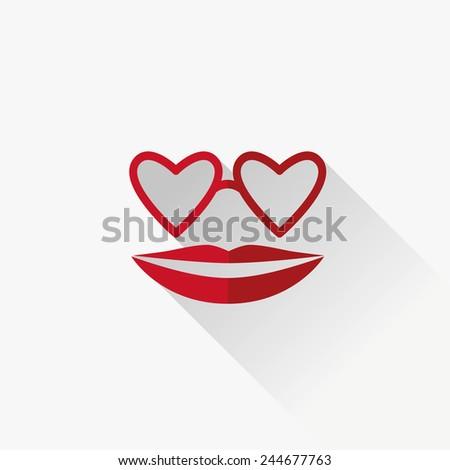 Happy Valentines Day Icon - stock vector