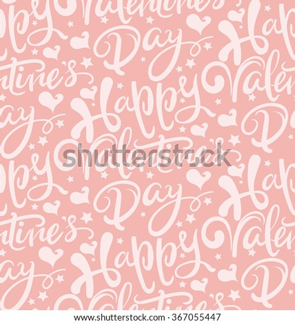 Happy valentines day, love text, valentines day, valentines day ideas, seamless pattern, valentine card, design template graphic design, valentines day background, love background, pink, vector - stock vector