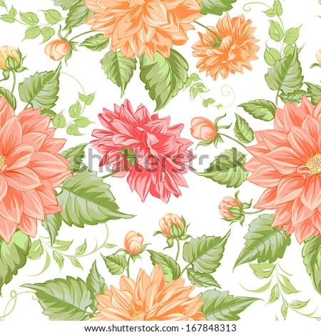 Happy valentines seamless pattern. Vector illustration. - stock vector