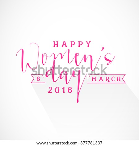 Happy Women's Day Design Element for Greeting Cards. Vector Illustration. - stock vector