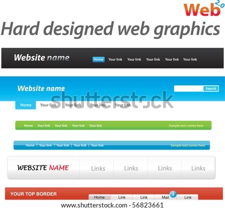 Hard designed web graphics - stock vector