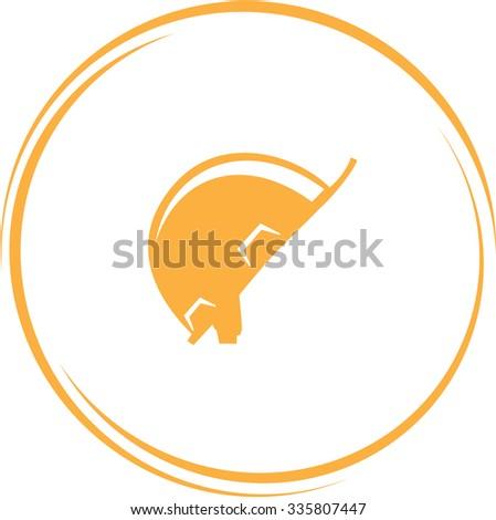 hard hat. Internet button. Vector icon. - stock vector