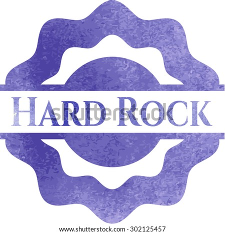 Hard Rock aquarelle style  - stock vector