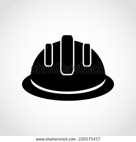 Hardhat Icon Isolated on White Background - stock vector