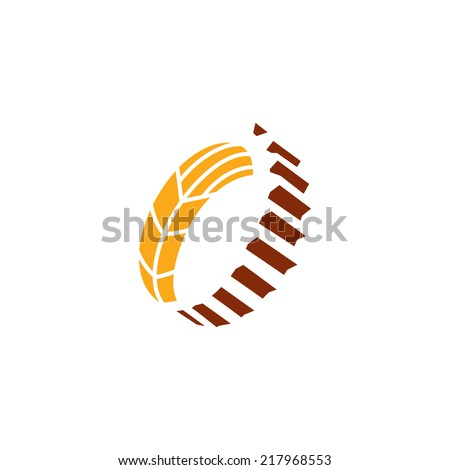 Harvesting abstract sign Branding Identity Corporate vector logo design template Isolated on a white background - stock vector