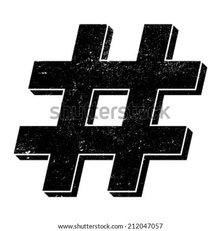 Hashtag vector icon - stock vector