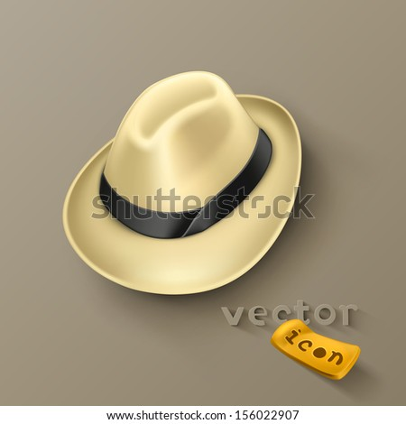 Hat icon - stock vector