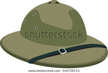 Hat of african hunter - stock vector