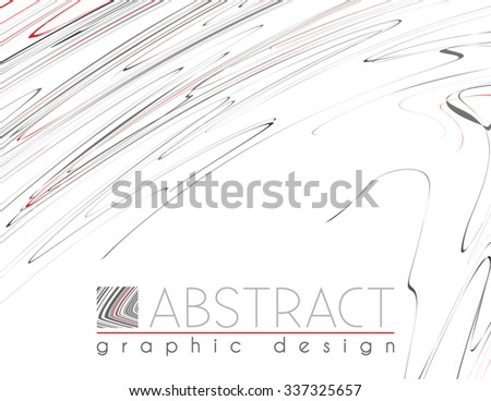 Hatching. Abstract template of page with black, red and gray thin strips. Vector graphic design layout - stock vector