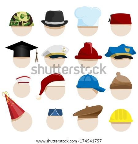 hats - stock vector