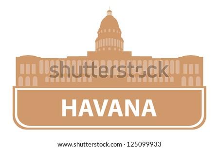 Havana symbol - stock vector