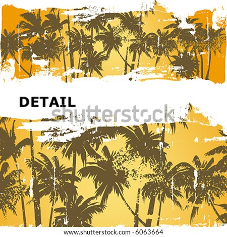 hawaiian grunge guard - stock vector