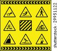 Hazard Warning Signs 4 - stock vector