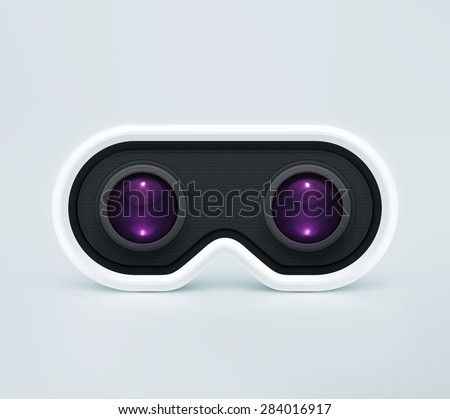 Head-mounted display, virtual reality headset, eps 10 - stock vector