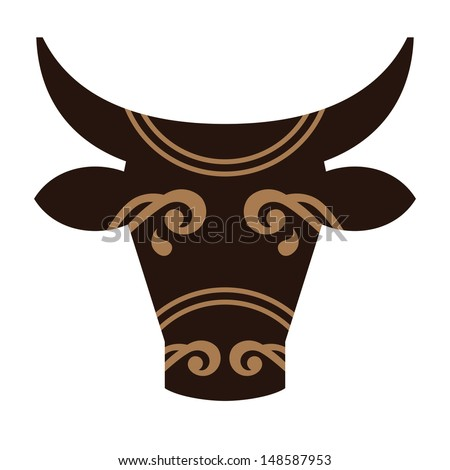 Head of a bull, vector illustration - stock vector