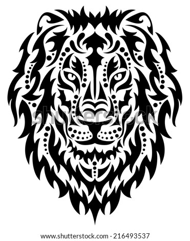 Head of a lion. - stock vector