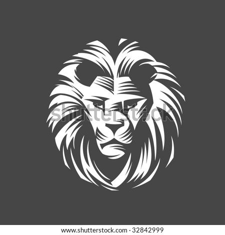 Head of a lion - stock vector