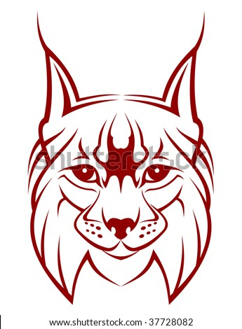 Head of lynx as a mascot - abstract emblem. jpeg version also available - stock vector