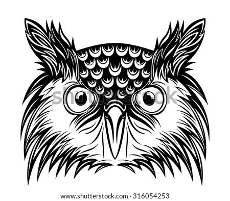 Stock Images similar to ID 215582989 - owl crest