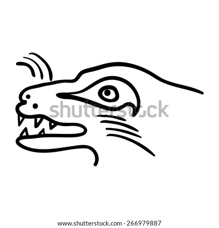 Head of the beast, vector illustration - stock vector