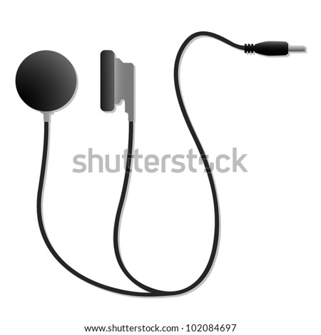 Head phones illustration - stock vector