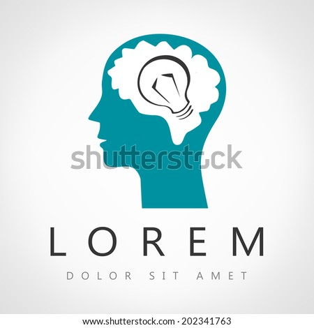 head think lamp  - stock vector