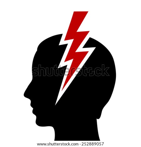 Headache icon - stock vector