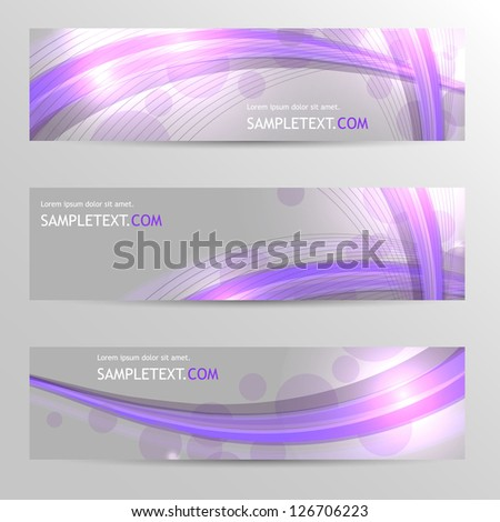 Header Background Design Set - stock vector