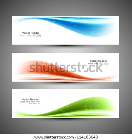 Header blue vector colorful wave background - stock vector
