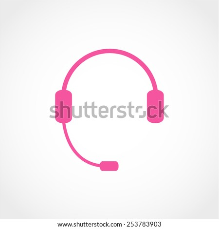 Headphone for support or service Icon Isolated on White Background - stock vector