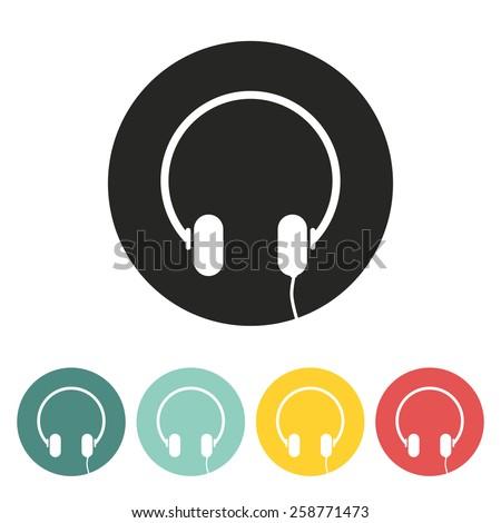Headphone icon.Vector illustration. - stock vector
