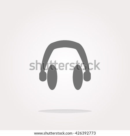 headphone vector, headphone icon vector, headphone icon eps, headphone icon jpg, headphone icon picture, headphone icon flat, headphone icon app, headphone icon web, headphone icon art - stock vector