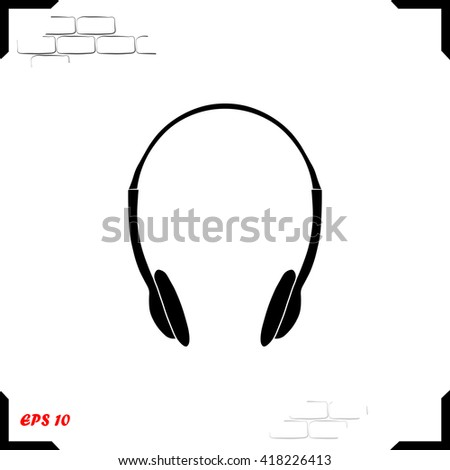 Headphones Icon. Headphones Icon Vector. Headphones Icon JPEG. Headphones Icon Object. Headphones Icon Picture. Headphones Icon Image. Headphones Icon Graphic. Headphones Icon Art. - stock vector