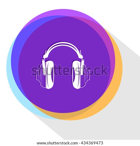 headphones. Internet template. Vector icon. - stock vector
