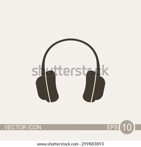 Headphones - vector icon. - stock vector
